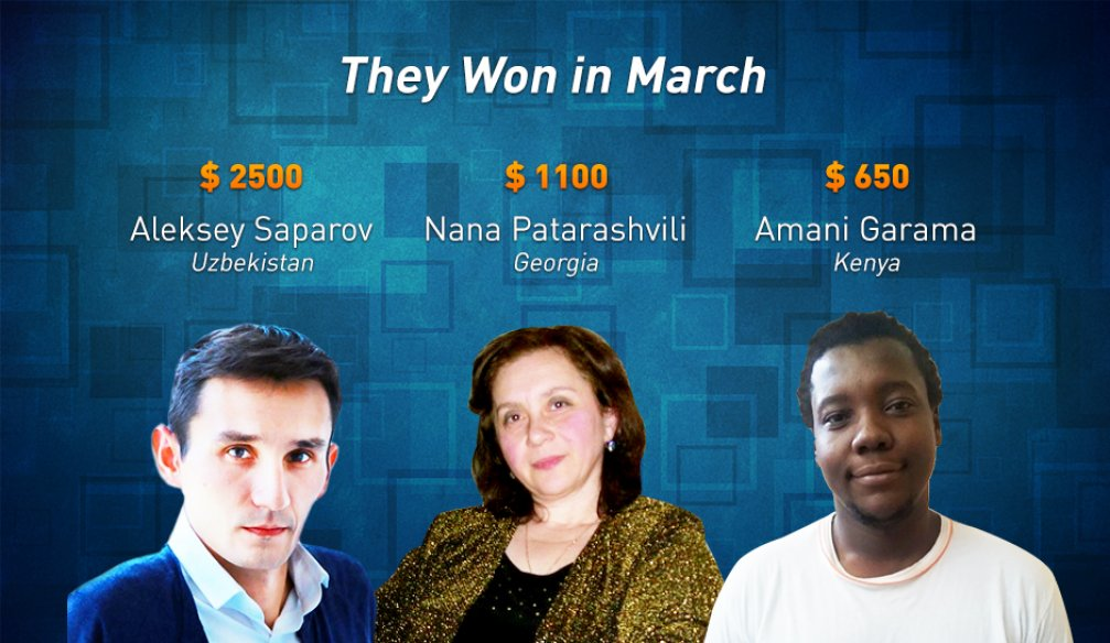 Top 3 Advisors with Highest Income in March