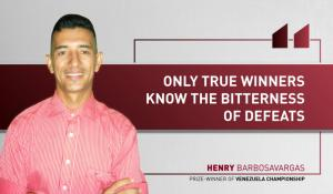 "Henry Barbosavargas: ""You teach namely from your mistakes"""