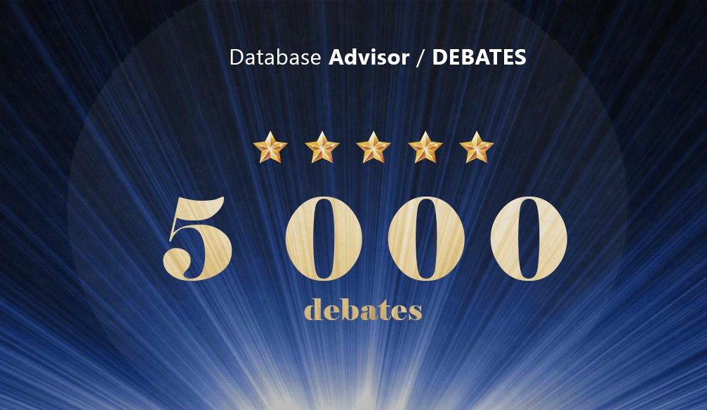 Over 5,000 Debates Held!