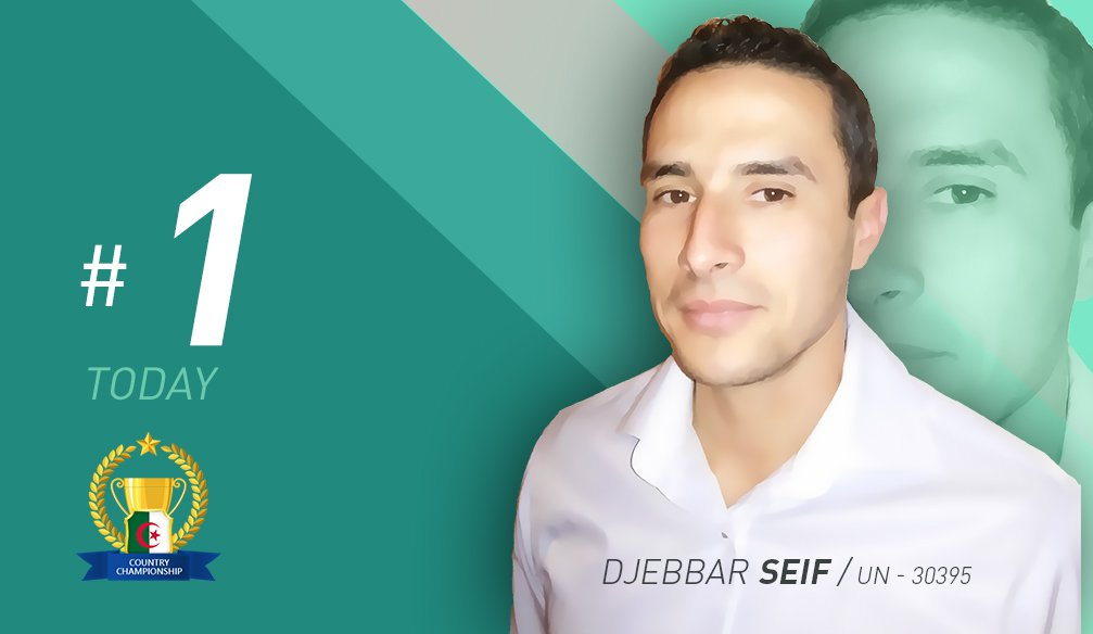 Djebbar Seif Takes the Lead Moving up Two Spots in One Day